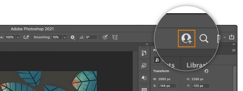 Для совместной работы в Photoshop необходимо отправить приглашение другим пользователям / фото Adobe1